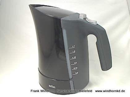 Wasserkocher ohne Sockel, schwarz